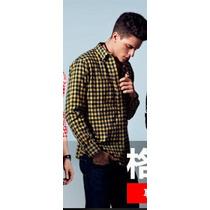 Camisa Xadrez Blusa Masculina Camiseta Manga Longa