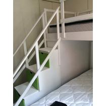 Escalera Para Litera Con Barandales Y Cajones Lagunilla