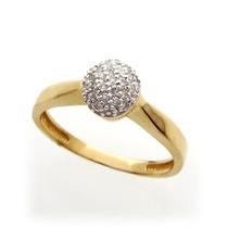 Anel Pavê Solitário Em Ouro 18k E Diamante Frete Grátis