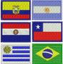 Mini Bandeira Brasil Bordada Patch 3x4,5cm Paises E Estados