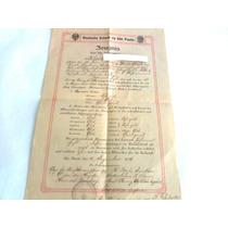 Certificado Escolar Alemão Ano 1916 Original
