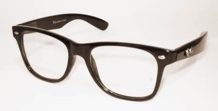 8a2f0947ab91d Armação Óculos Grau Nerd Skate Wayfarer Ray Geek Retro Preto - R  29,90 em  Mercado Livre