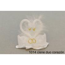 Souvenir Casamiento Cisne Duo X 200 Unidades Base Oro