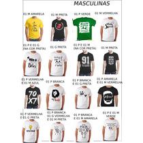 Kit 40 Camisetas Evangélica Gospel Cristã Promoção Atacado