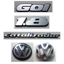 Kit Emblema Volks Gol 1.8 Catalisador Vw Grade E Mala 90/97