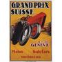 Corrida Suiça Moto Triciclo Poster Repro