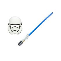 Mascara Star Wars Order Stormtrooper + Sabre De Luz Azul