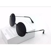 Óculos Sol Redondo Espelhado Feminina Unissex Proteção Uv400