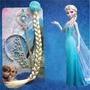 Disfraz De Elsa De Frozen Trenza Corona Y Cetro De Princesa