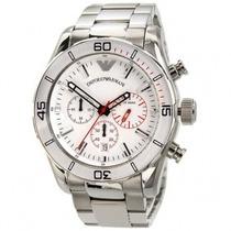 Relógio Empório Armani Ar5932 Branco Cronógrafo Original