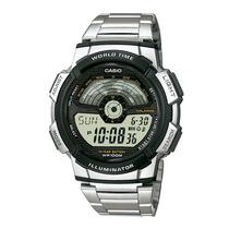 Relógio Casio Ae-1100wd-1av Hora Mundial 5 Alarmes Ae-1100 P