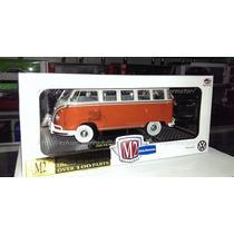 1:24 Volkswagen Microbus Deluxe 1960 Rojo M2 Machines C Caja