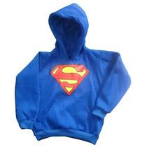 Buzo Con Capota Niños Superman