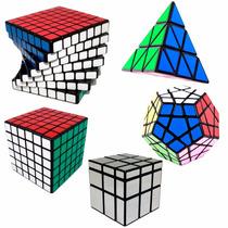 Kit Cubo Mágico 6x6x6, 7x7x7, Mirror, Megaminx, Pyraminx