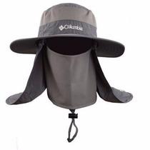 Sombrero Columbia Con Protector De Boca Y Nuca + Filtro Uv.