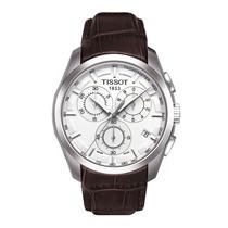 Relógio Tissot Couturier Branco Couro Original Suiço Safira