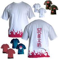 Camisas Camiseta De Animes Naruto Yondaime Akatuski Uchila