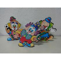 Centro De Mesa Palhaço Festa Infantil Kit Com 3