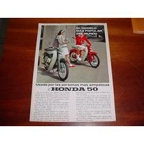 Folder Raro Motocicleta Honda 50 Cinquentinha Anos 60 / 70