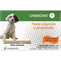 Pipeta Antipulgas Y Garrapatas Chemovet 1 (2 A 10 Kg) 10+2