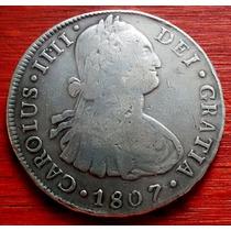 1807 - Potosí - 8 Reales - Carolus Iiii Pj, Cj# 76.19 ,plata