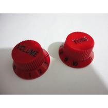 Knob Strato Vermelho Modelo Jem Ibanez Kit Volume+tom