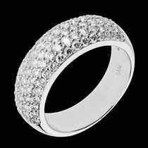 Vivar Anel Pavê Com 0,89 Quilate Em Diamantes