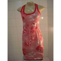 Hering, Lindo E Leve Vestido Estampado Vermelho E Branco