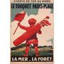 Campo De Golfe Le Touquet Paris Poster Repro