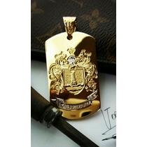 Pingente Ouro Brasão Personalizado Ouro 18k