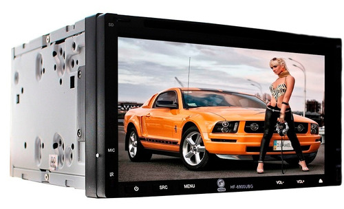 Autoestereo 2 Din Pantalla Dvd Gps Bluetooth Usb Sd Aux Hf - $ 3,970.00 en Mercado Libre