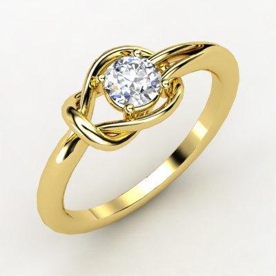 b28ed2ba407b2 Solitário Ouro Amarelo 18 Quilates!com Pedra De 0,25cts! - R  3.756 ...