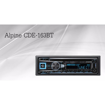 Autoestereo Alpine Cde-163bt. Bluetooth Usb Iphone Ipod