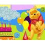 Convites Ursinho Pooh Aniversários + Desenha + Ref 002