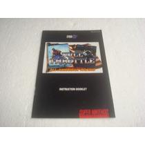Super Nintendo - Full Throttle (somente O Manual) Novinho !!