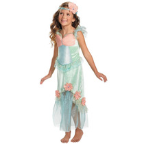 Disfraz Talla 6 A 7 Años Vestido Sirena Sirenita Niña