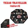 Mesa Poker Texas Viajero Y Chip 300 Set De Viaje