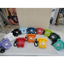 Telefone Antigo Disco Vintage Colorido Anos 70 Original