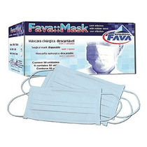 Máscara Cirúrgica Descartável Branca - Fava Cx C/ 50 Unid.
