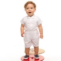 Conjunto Infantil Masculino Para Batizado Branco