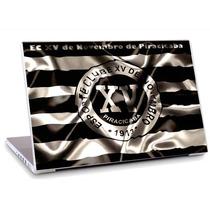 Skin Adesivo Notebook Xv De Piracicaba Futebol Logo Skdi4137