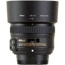 Lente Nikon 50mm F/1.8g Af-s Autofoco Parasol Garantia 1 Ano