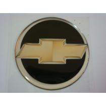 Kit 4 Emblemas Rodas Calota Resinado Gravata Dourada