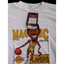 Camiseta Nba Lakers Magic Johnson, Nova, 100%original