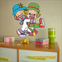 Adesivo Digital Infantil Palhaços Patati Patata Wprint008