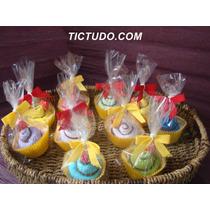 Lembrancinha Cup Cake Toalha Toalhinha Tema Preferido Com 10