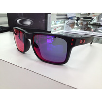 Oculos Oakley Holbrook 009102l-36 Matte Black L .red Iridium