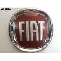Emblema Fiat Vermelho Grade Uno Palio Siena Strada Linha 08