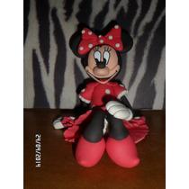 Adornos Para Torta Minnie Mouse En Masa Flexible