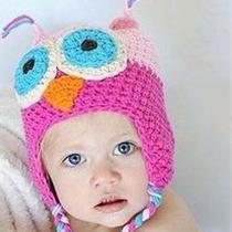 Gorro Tejido En Lana Para Bebés Niñas Niños Importados